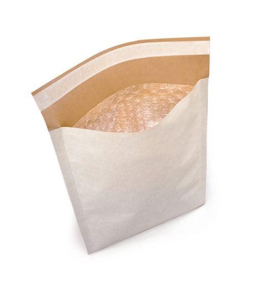 Pochettes matelassées bulles / kraft blanc 350 x 470